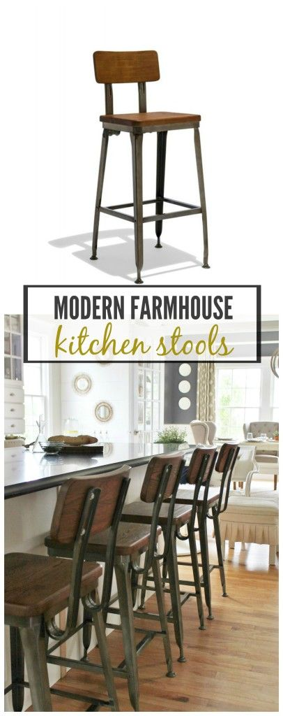 cityfarmhouse Modern Farmhouse Kitchen Barstools Revealed http://cityfarmhouse.com/2015/08/modern-farmhouse-kitchen-barstools-revealed.html via bHome https://bhome.us