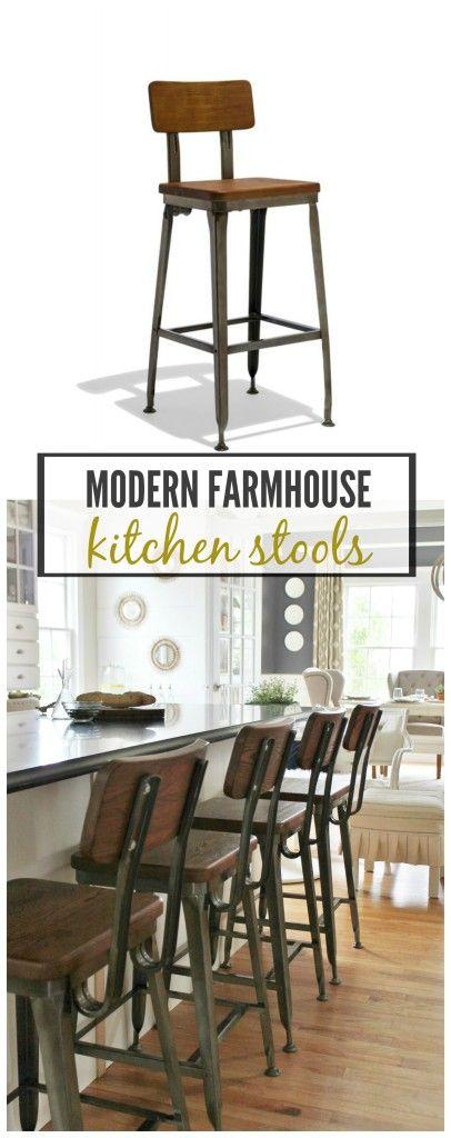 cityfarmhouse Modern Farmhouse Kitchen Barstools Revealed http://cityfarmhouse.com/2015/08/modern-farmhouse-kitchen-barstools-revealed.html via bHome https://bhome.us