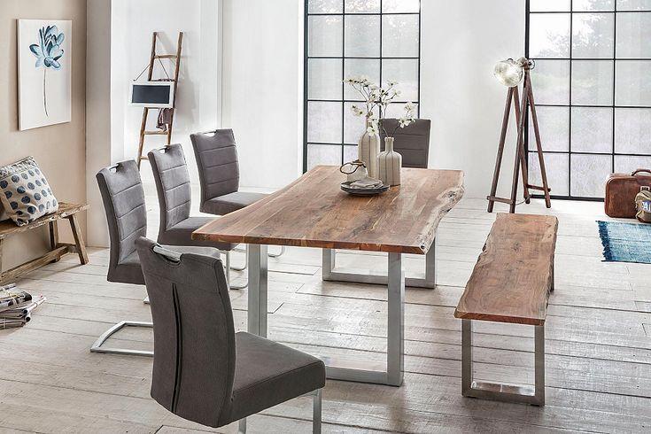 Die besten 25+ Baumkantentisch Ideen auf Pinterest Tischplatten - vintage esstisch ideen esszimmer mobel