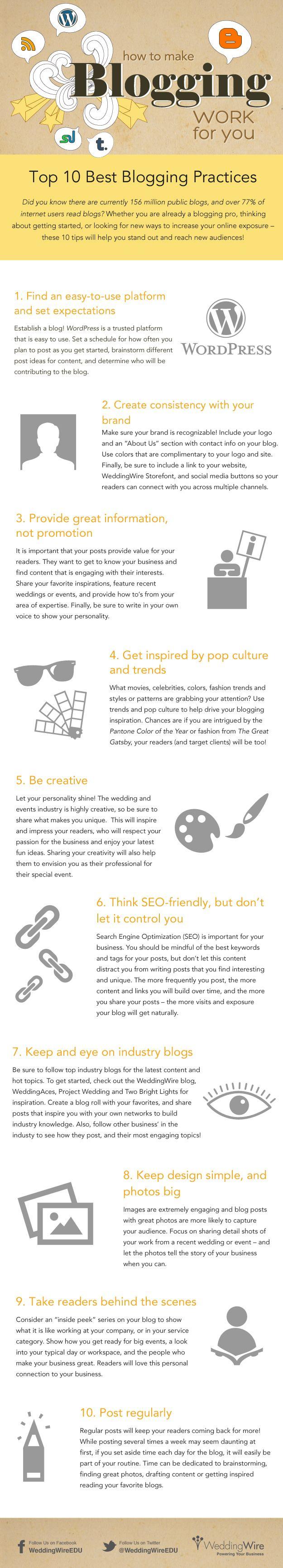 10 Best Blogging Practices [INFOGRAPHIC] - Digital Information World | #TheMarketingAutomationAlert