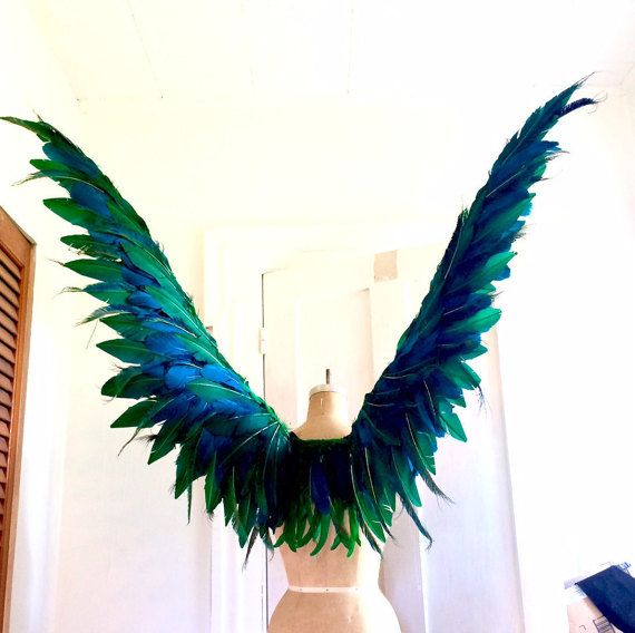 Maleficent Miss Peregrine costume Fairy bird Wings by CecilyRush