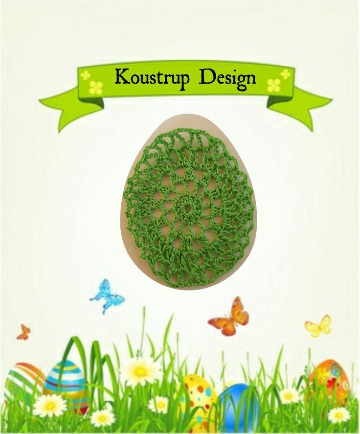 Hæklet påskeæg - by Koustrup Design