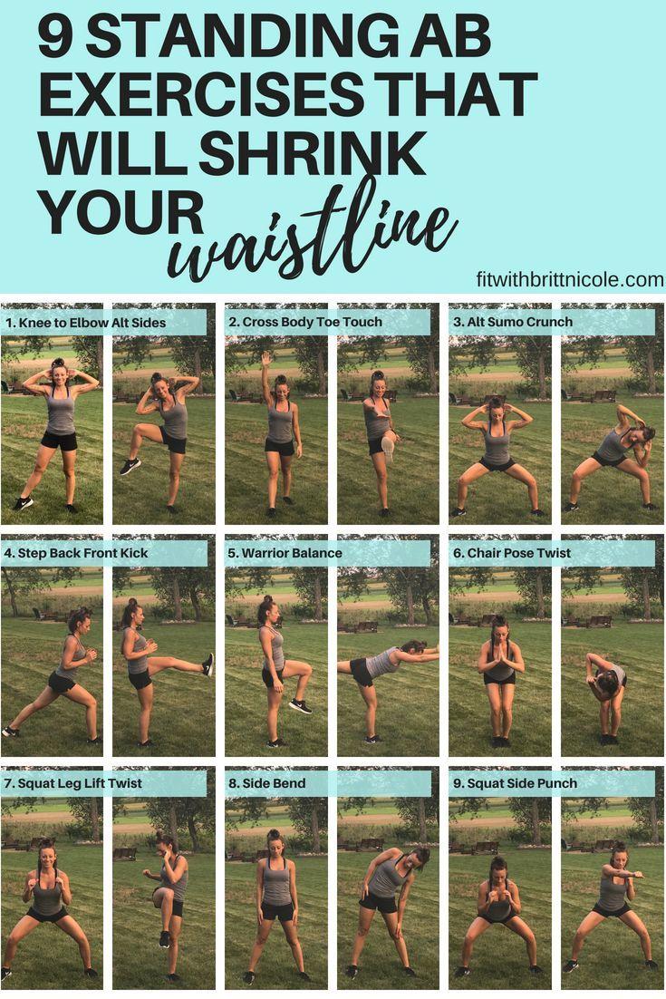 Übungen zum Zurückbrennen und Bauchfett