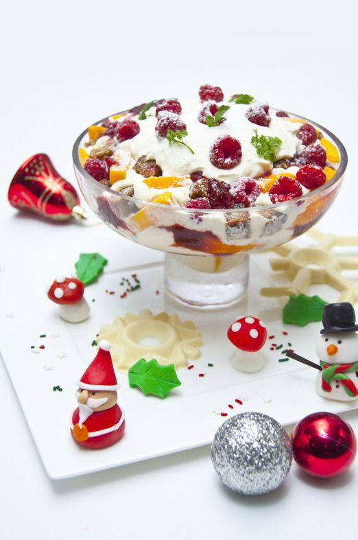 1. The tipsy trifle from The Ritz Carlton Pacific Place Jakarta. The trifle is arranged in layers, slathered in cream an...