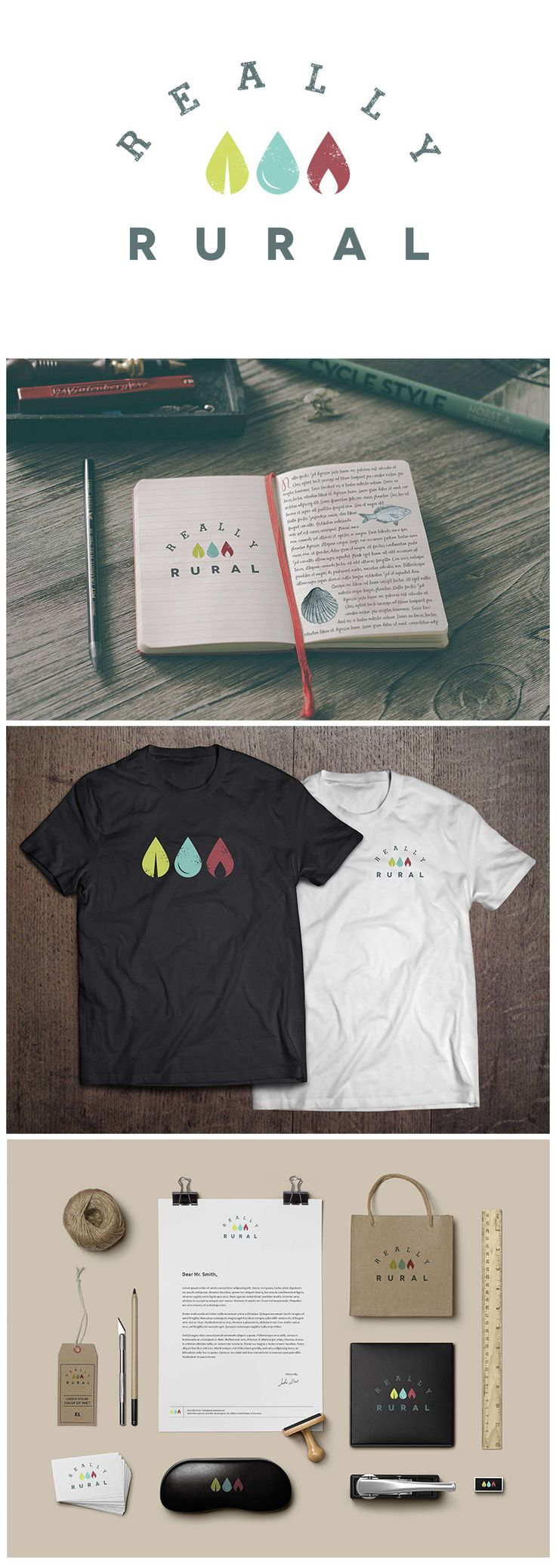 #Brand development for Really Rural by Orphans Press