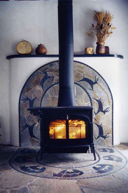 tile wood stove surround | Murals: Ceramic Tile Murals,Tile Murals,Hand Painted Ceramic Tile