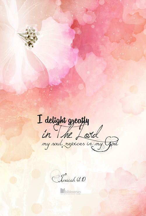 Waiting On The Lord:  I delight greatly in the Lord