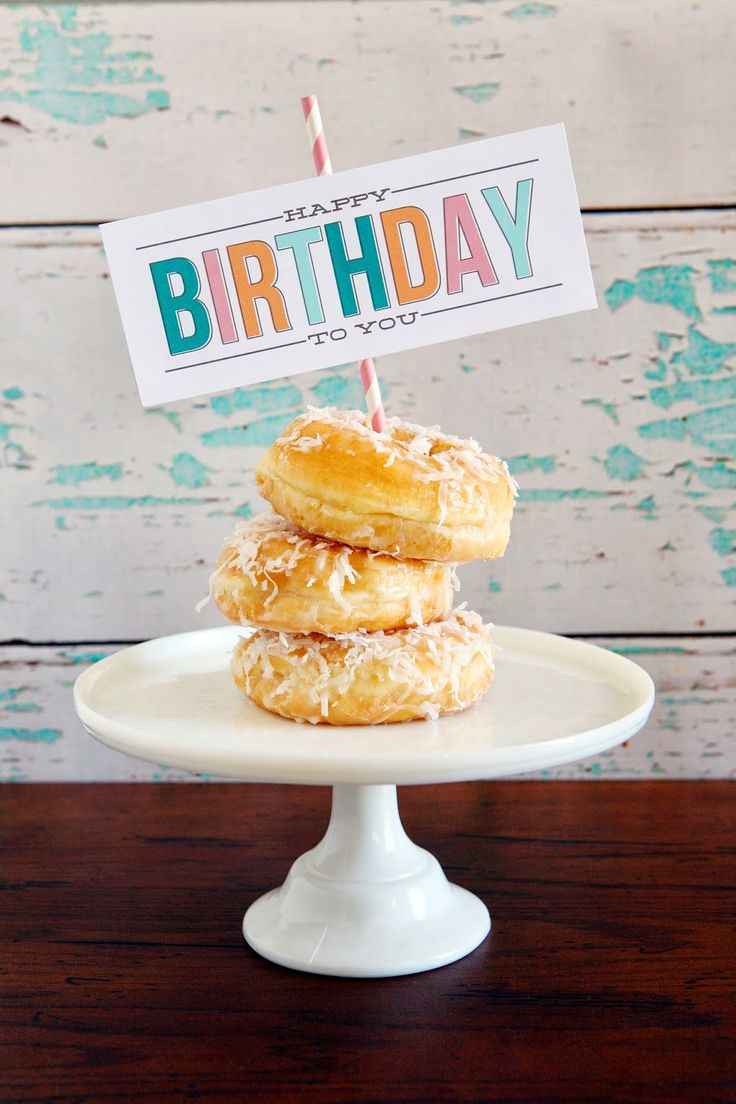 Birthday Morning Treats Printable - what a fun surprise to wake up to.