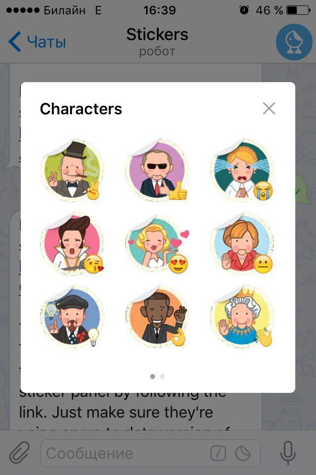 Stickers Characters