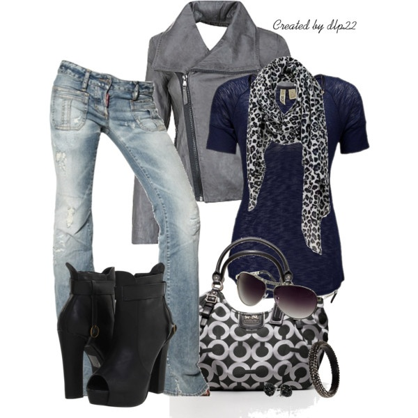 Navy and Gray, created by dlp22 on Polyvore
