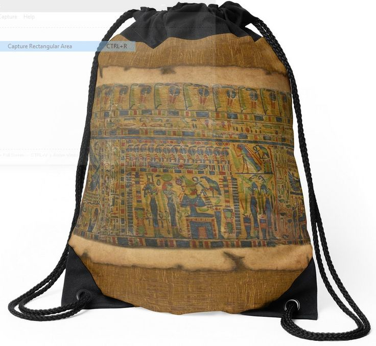 An Ancient #Egyptian Funerary Scroll design (pre 944 BC), on a cool Drawstring Bag from Red Bubble.