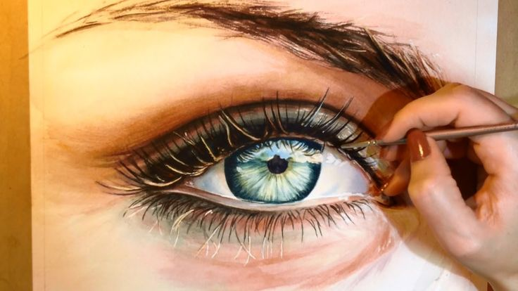 I am seriously in AWE of this painter. How to Paint a Realistic Eye - Watercolor Portrait Tutorial