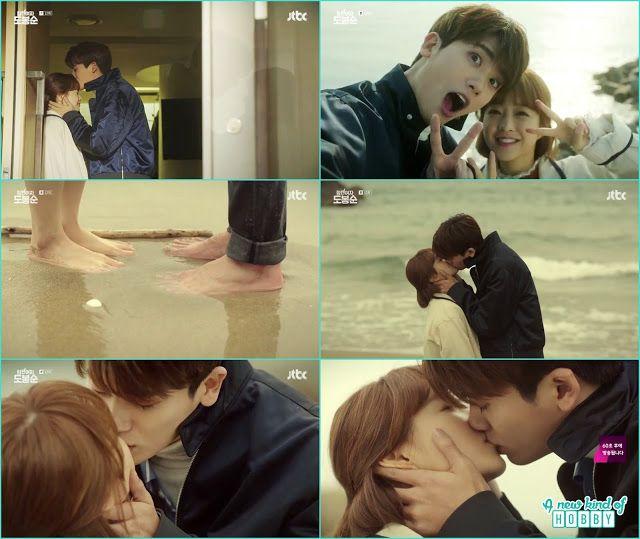 Bong Soon And Min Hyuk Beech Kiss Strong Woman Do Bong Soon Dates Kisses Korean Drama Funny Love Story Funny Love Strong Women
