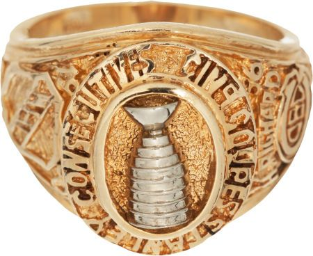 1960 Montreal Canadiens Stanley Cup Championship Ring Presented to Henri Richard.
