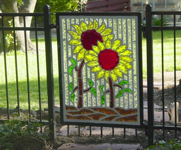 Stain Glass Garden Gate