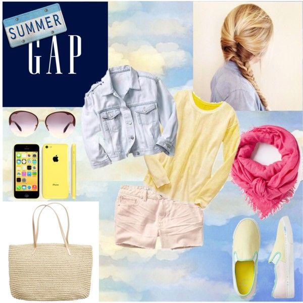 """Summer Lovin,' Gap Style"" by michellezee on Polyvore"