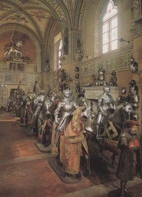 Knights & horses in armor, at the Stibbert Museum in Florence