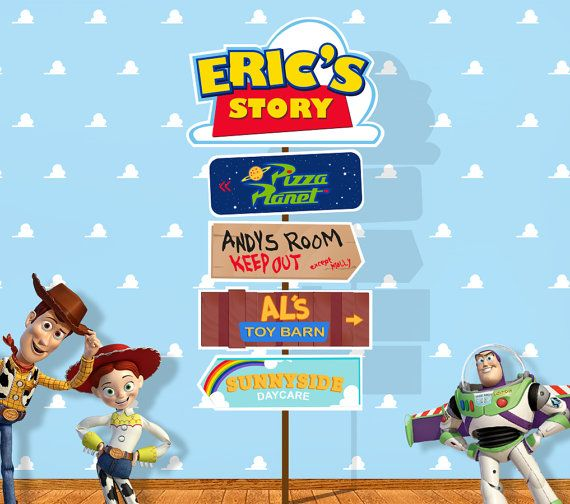 Personalized Toy Story arrow sign (digital file)