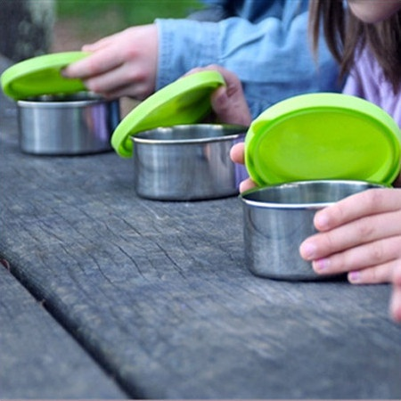 Kids Konserve Stainless Steel Containers - Set of 2 Medium in Lime. Found at Nourished Life - living toxic free in the city.