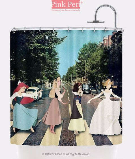 This Abbey Road shower curtain: | 29 Things To Help You Embrace Your Inner Disney Princess