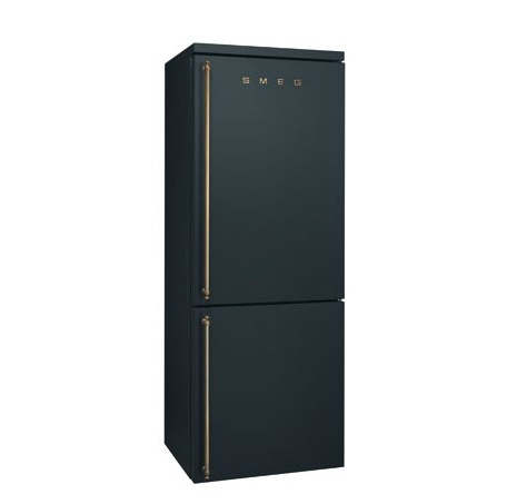 Smeg Fridge Anthracite Finish W Brass Handles Back To