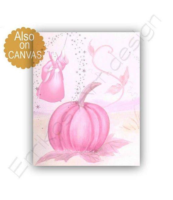 Princess Cinderella Pumpkin Art Print Cinderella's Fairy