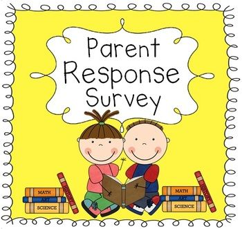 This parent response survey allows the parents to provide important information at the beginning of the school year.