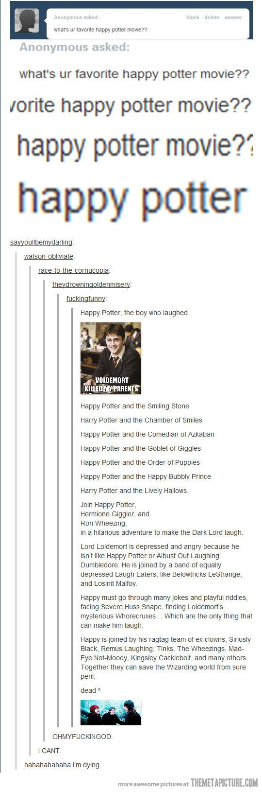 Happy Potter. This is fantastic.