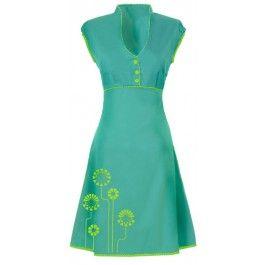 Ecouture by Lund -  JOBI - kjole i håndprintet, økologisk bomuldssatin