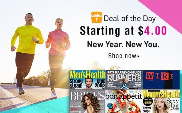 Deal of the Day: Discount Magazine Subscriptions Starting at $4 - http://supersavingsman.com/deal-day-discount-magazine-subscriptions-starting-4/