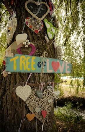 TREE OF LOVE, The HIPPY in me says this has to be a project soon. maybe in the woods near my fairy garden.