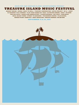 Treasure Island Music Festival Poster / The Small Stakes design