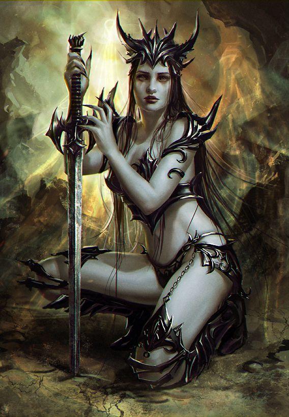 Demon warrior by anotherwanderer