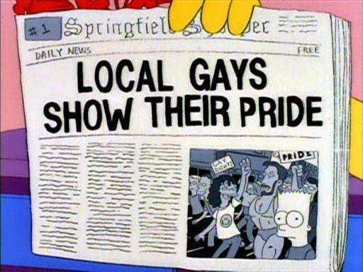 The Simpsons pride