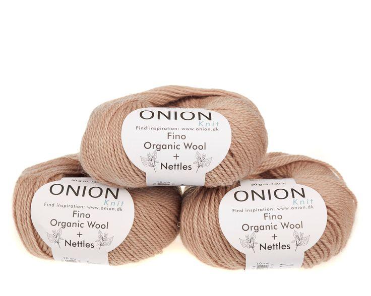 Pudder V817 - No. 4 - Fin økologisk uld med nældefibre - Onion - Strikkepinden - Nøgler á 50 gram