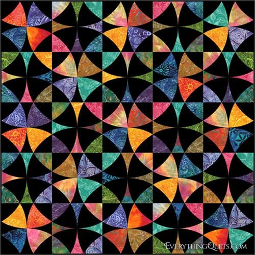 Field of Dreams Pre-Cut Quilt Kit.  Not really kaleidoscope, this is Winding Ways.  Nice colors