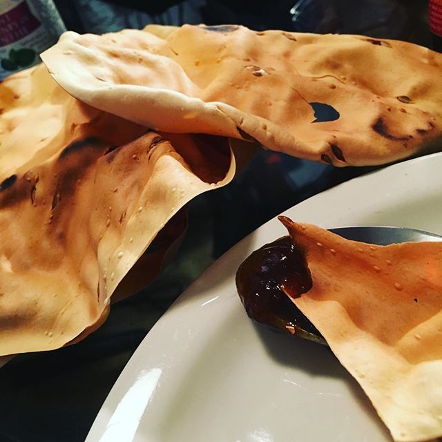 Roasted Papadums with Date & Tamarind Chutney