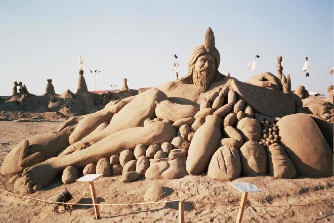 …creative and beautiful sand sculptures at Lara Beach in Turkey