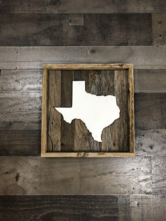 Rustic Texas State Shape Reclaimed Wood Wall Art Texas Wall Decor Farmhouse Style Sign Wood Texas Reclaimed Art Wood Wall Art Diy Reclaimed Wood Wall Art Texas Wall Art