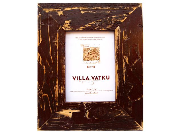 """Bilderrahmen - Bilderrahmen 15x21cm Holz """"Kaffee"""" (braun) - ein Designerstück von villa-vatku bei DaWanda 24"""