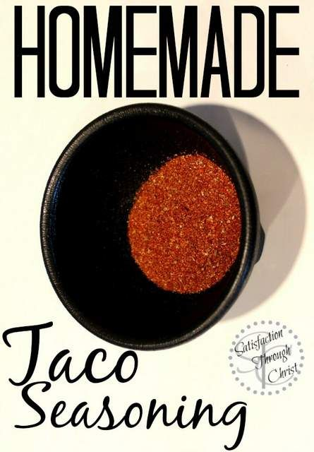 Homemade Taco Seasoning | Satisfaction Through Christ | Have you ever looked at the back of a store bought taco seasoning packet? Yuck! Here's a simple taco seasoning recipe with ingredients you know!