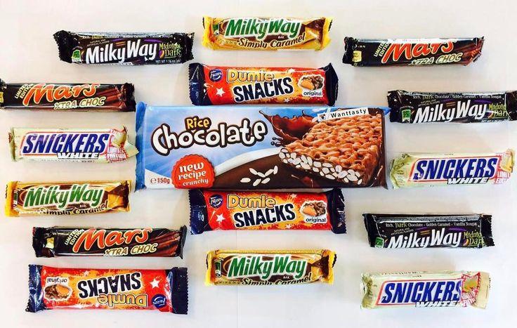 Вкуснота  приходите к нам мы вас ждём  батончик Milky Way Dark 149 батончик Milky Way Caramel 169 батончик Mars Xtra Choc 89 батончик Snickers White 89 батончик Dumle Snacks 115 шоколадка Rice 150g 159