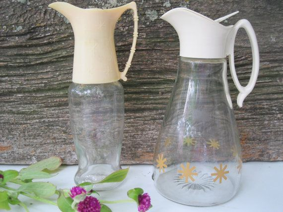 Atomic MidCentury Modern Syrup Bottles from Tessiemay by tessiemay, $21.00