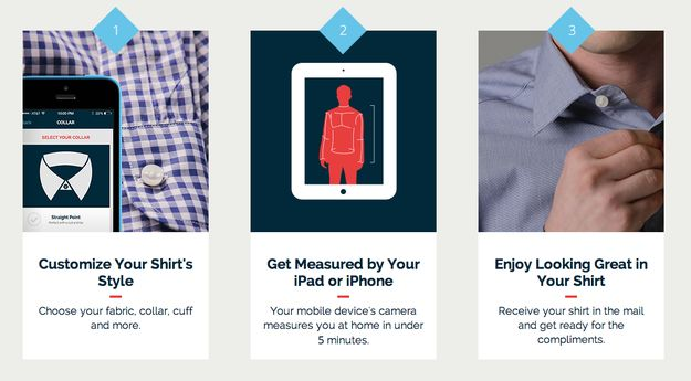 MTailor is a new app that uses an iPhone camera to figure out your body measurements and sell you fitted shirts. It works really, really well.