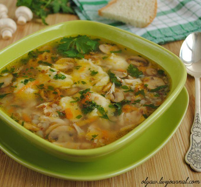 Гречневый суп с грибами и картофельными клёцками рецепт с фотографиями