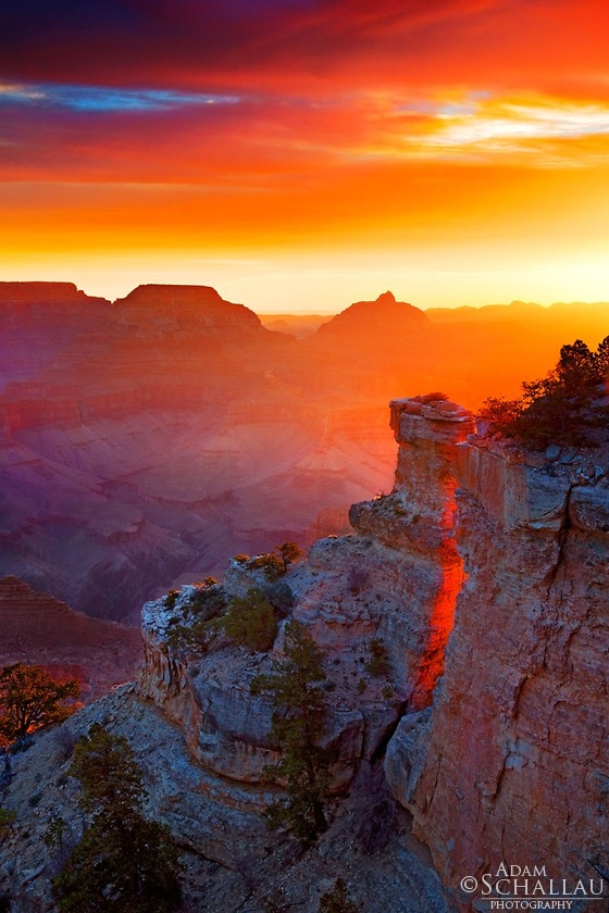 Sunrise from Yaki Point on the South Rim of Grand Canyon National Park © Adam Schallau.