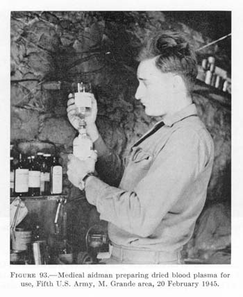 US Army preparing freeze dried plasma. During WWII, the Allied forces needed to transfer plasma and other serums over the ocean, in doing so, gave birth to freeze drying a product. Over 70 years later, freeze drying is a popular technique for transportation of products.