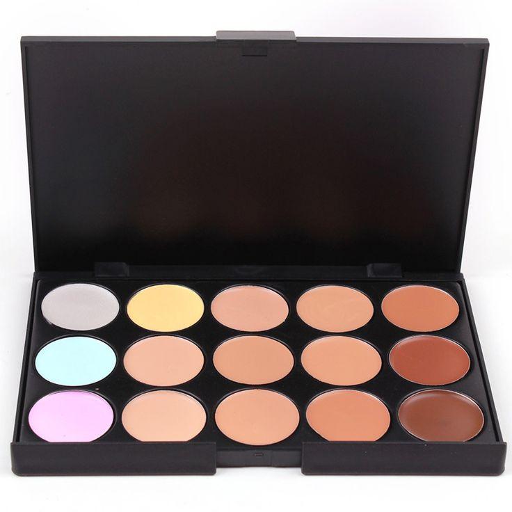 Tự nhiên Chuyên Nghiệp Kem Che Khuyết Điểm Palettes 15 Colors makeup Foundation Facial Mặt Cream Mỹ Phẩm đường viền palette che khuyết palette