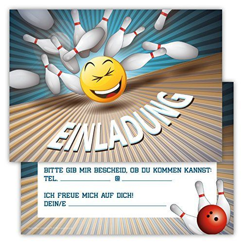 Einladungsbowlingspiel lustig - Partyeinladung - #