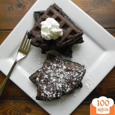 Фото рецепта: «Шоколадные вафли»